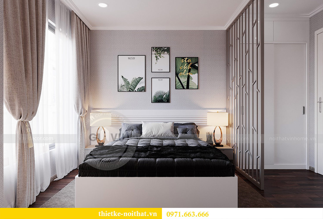 Thiết kế nội thất chung cư 2 phòng ngủ tòa C1 căn 03 - cô Lan Quế 8