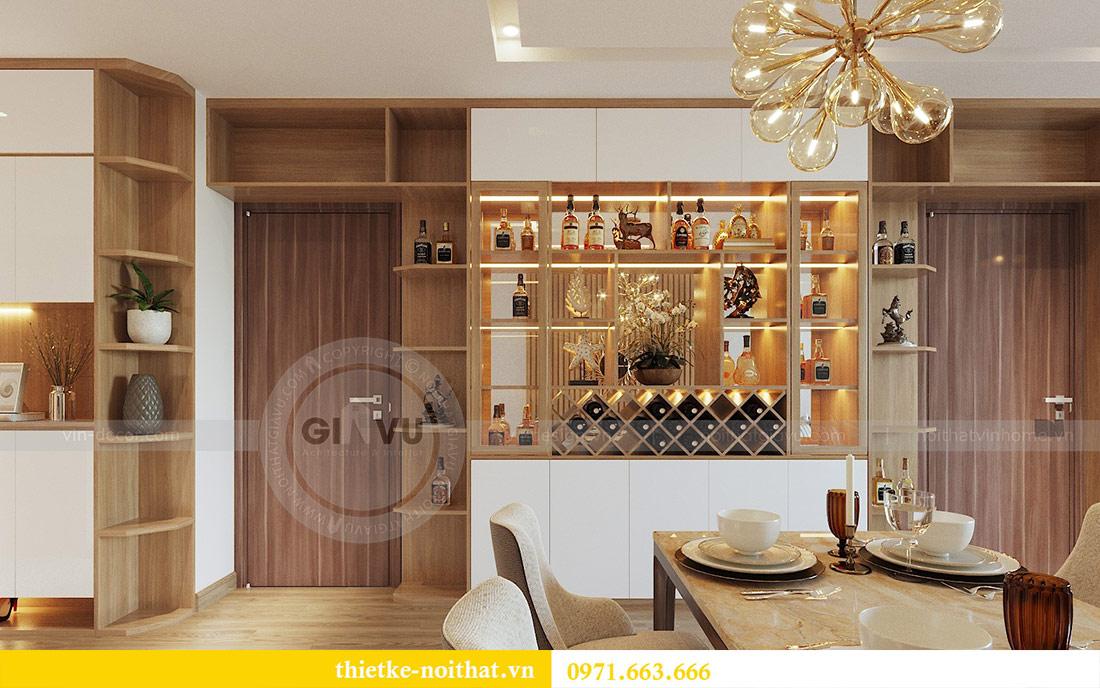 Thiết kế nội thất chung cư 74m2 tòa M3 căn 01 Vinhomes Metropolis 1