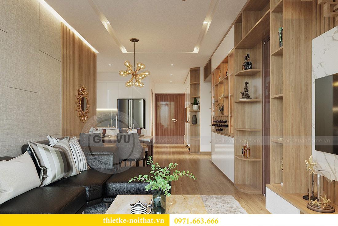 Thiết kế nội thất chung cư 74m2 tòa M3 căn 01 Vinhomes Metropolis 2