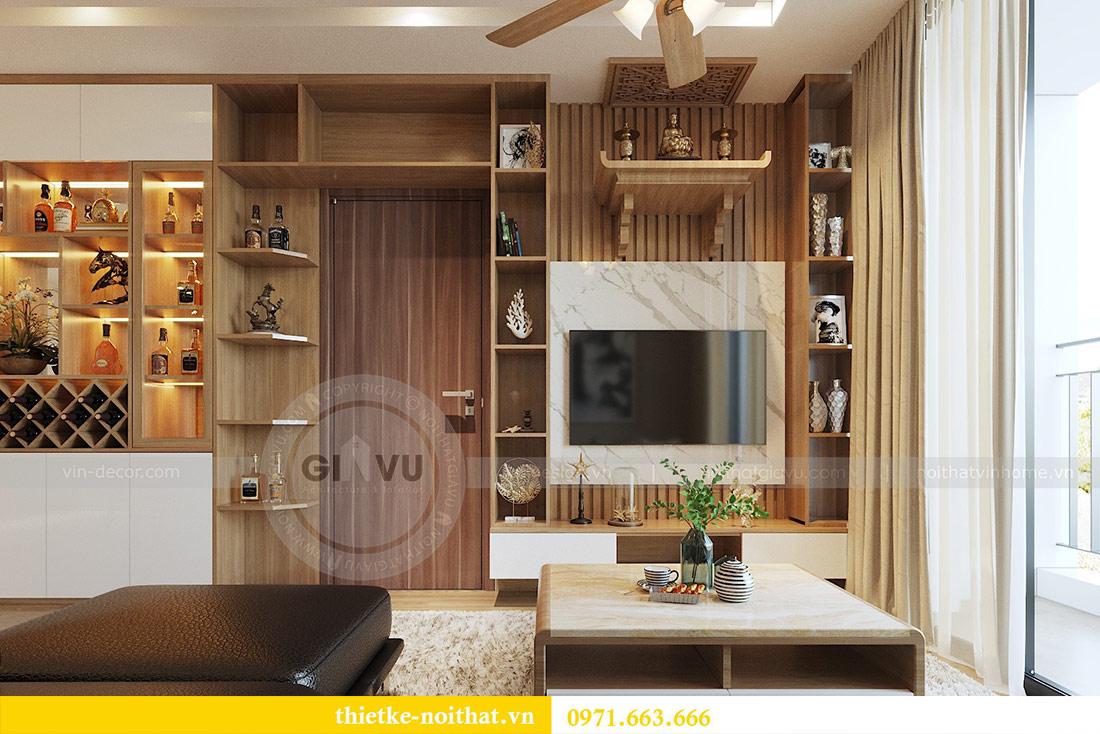 Thiết kế nội thất chung cư 74m2 tòa M3 căn 01 Vinhomes Metropolis 3