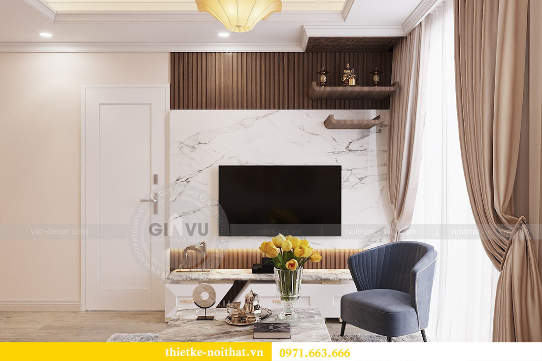 Thiết kế nội thất chung cư Park Hill 10 căn 02 - anh Tâm 2