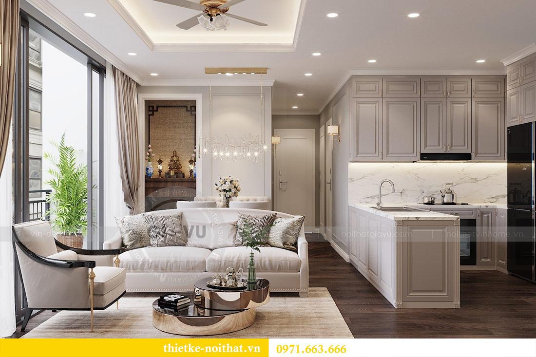 Thiết kế thi công căn hộ chung cư Dcapitale tòa C1 căn 10 - chị Nguyệt 2