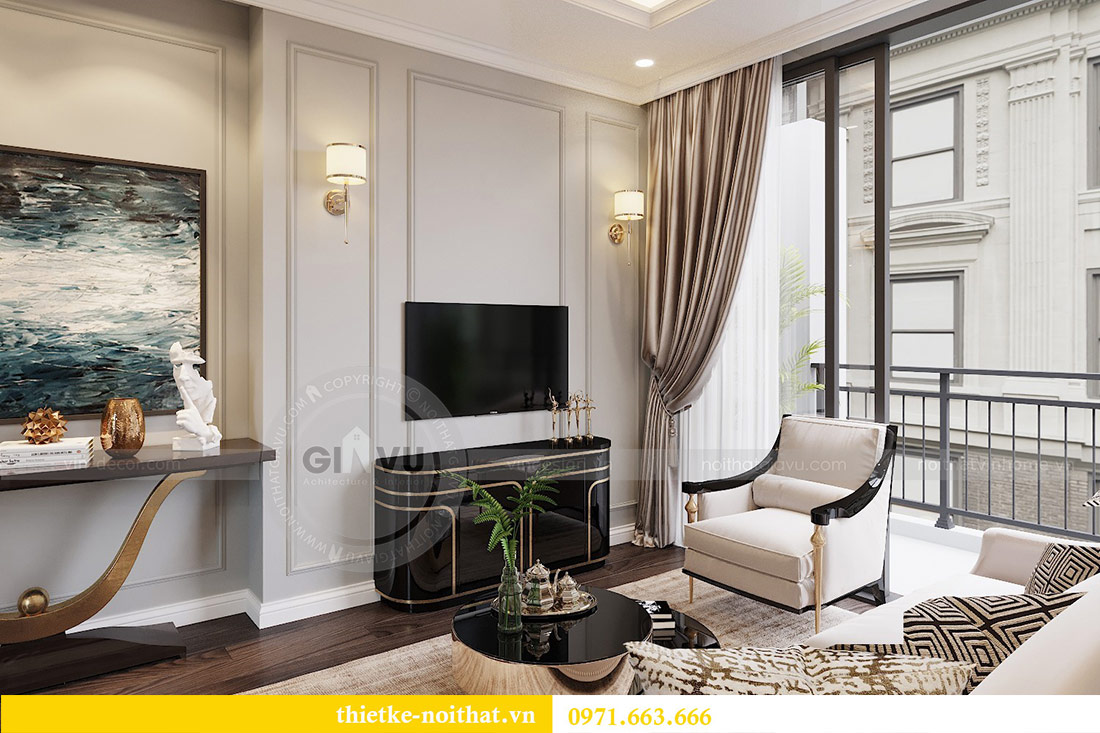 Thiết kế thi công căn hộ chung cư Dcapitale tòa C1 căn 10 - chị Nguyệt 3