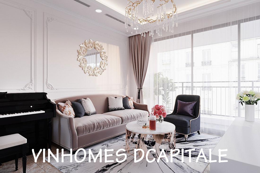 Thiết kế nội thất căn hộ Dcapitale tòa C6 căn 02 – anh Chiến
