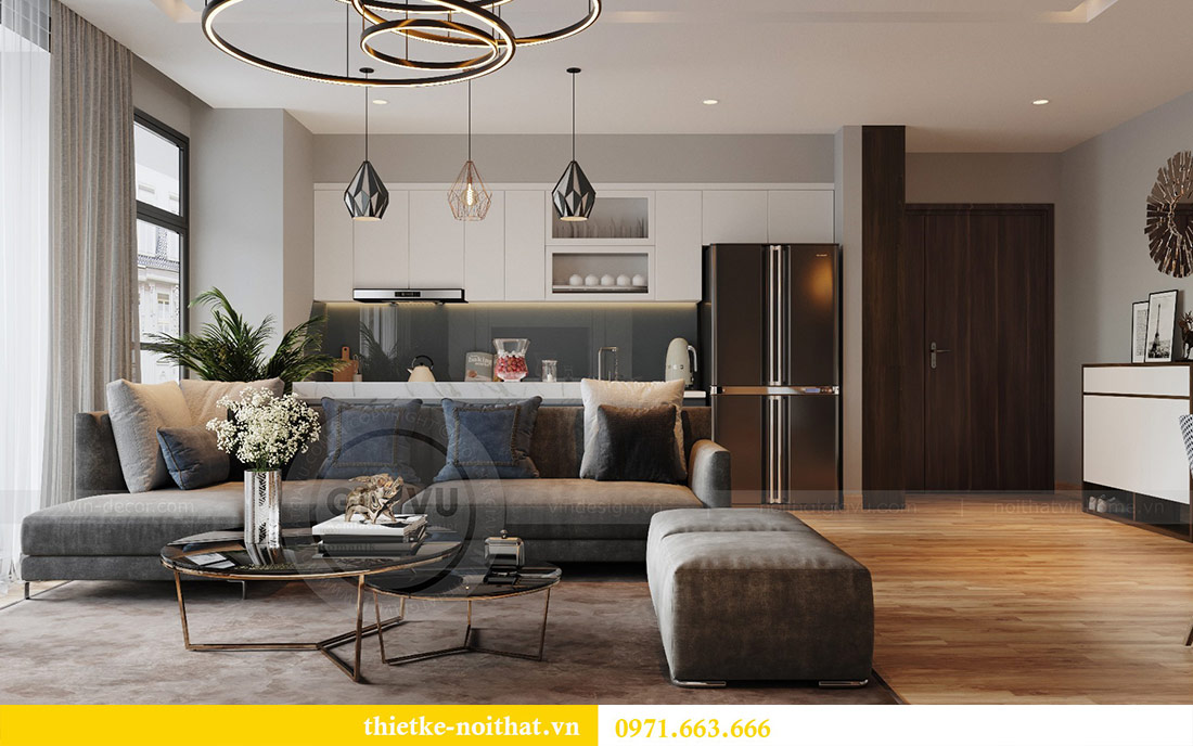 Mẫu thiết kế nội thất chung cư đẹp phong cách hiện đại 1