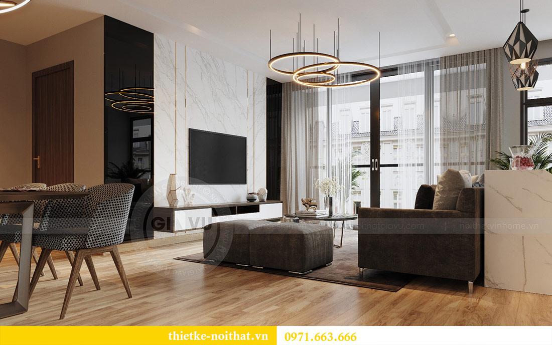 Mẫu thiết kế nội thất chung cư đẹp phong cách hiện đại 2