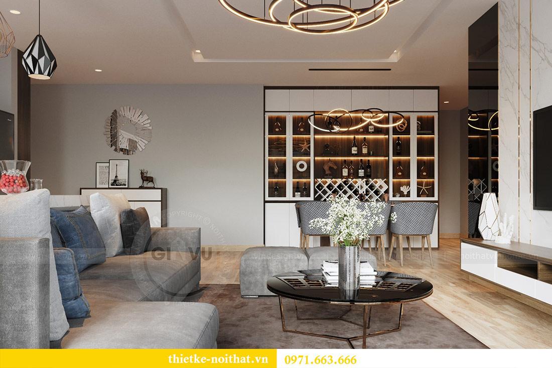 Mẫu thiết kế nội thất chung cư đẹp phong cách hiện đại 3