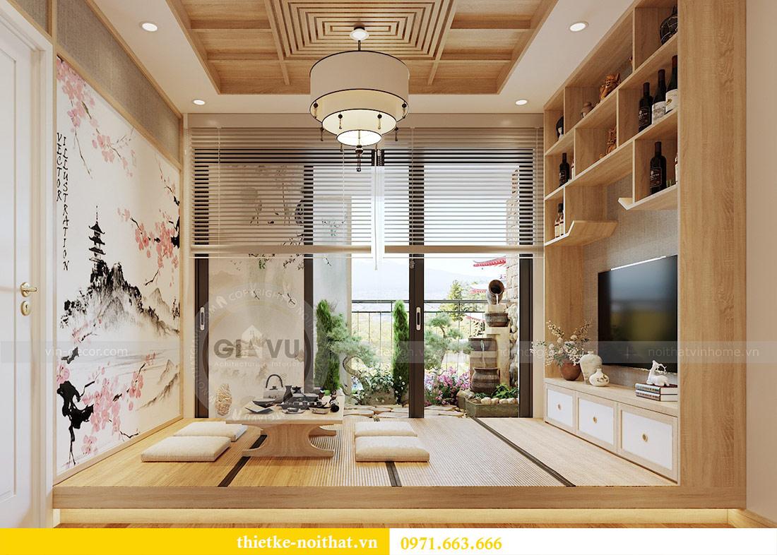 Mẫu thiết kế nội thất chung cư đẹp phong cách Nhật Bản 1