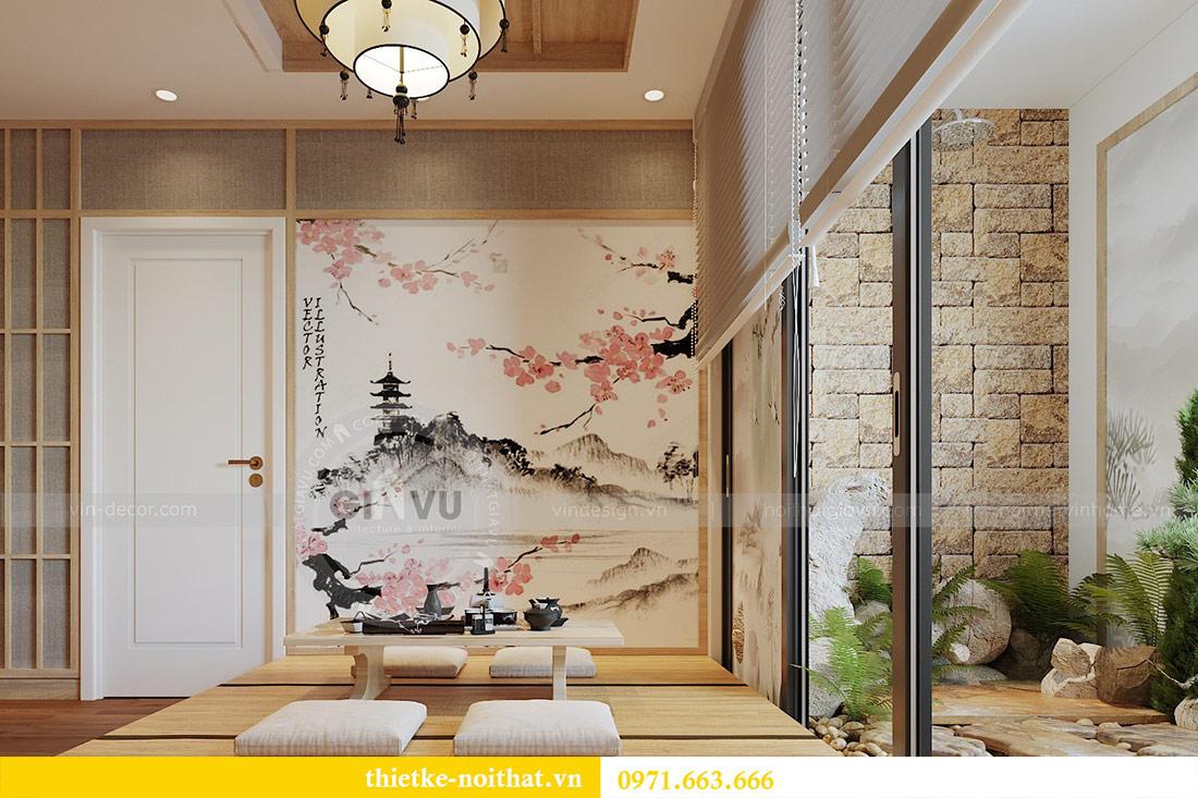 Mẫu thiết kế nội thất chung cư đẹp phong cách Nhật Bản 2