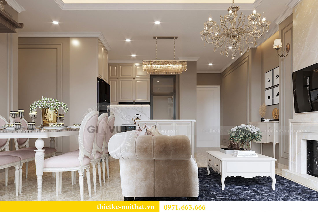 Thiết kế nội thất căn hộ chung cư Dcapitale - anh Tân 4