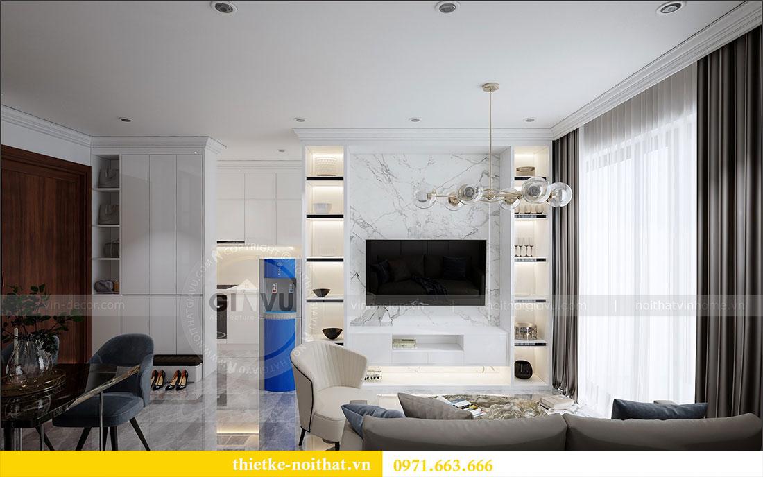 Thiết kế nội thất chung cư 2 ngủ tại Dcapitale - chị Hoa 2