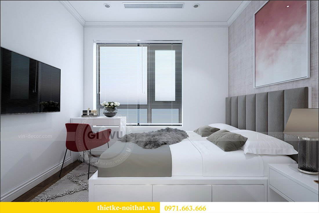 Thiết kế nội thất chung cư 2 ngủ tại Dcapitale - chị Hoa 9