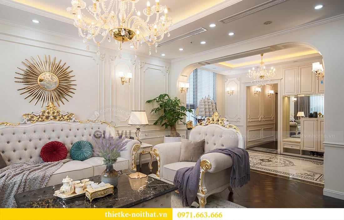 Mẫu thiết kế nội thất chung cư đẹp phong cách tân cổ điển 1