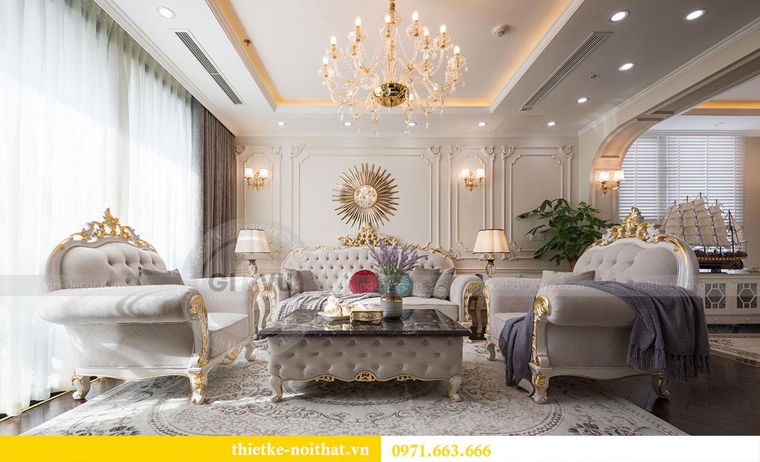 Mẫu thiết kế nội thất chung cư đẹp phong cách tân cổ điển 2