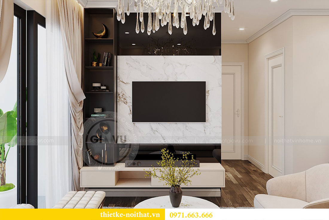 Thiết kế nội thất chung cư tại Dcapitale tòa C109 - chị Huyền 4