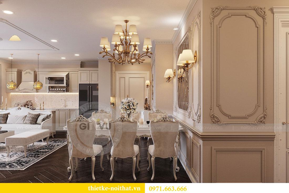 Thiết kế nội thất chung cư Vinhomes Metropolis phong cách tân cổ điển 6