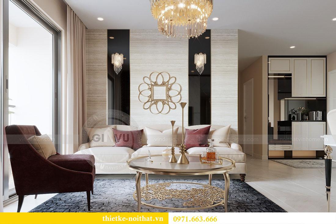 Mẫu thiết kế nội thất chung cư đẹp phong cách luxury 1