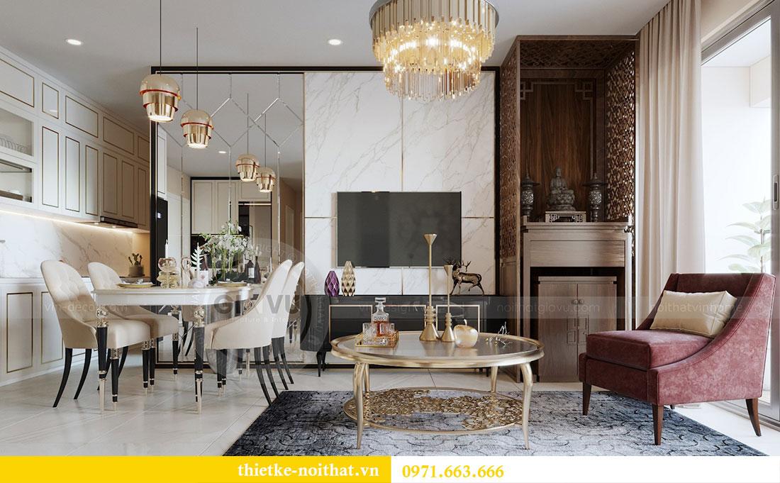 Mẫu thiết kế nội thất chung cư đẹp phong cách luxury 2