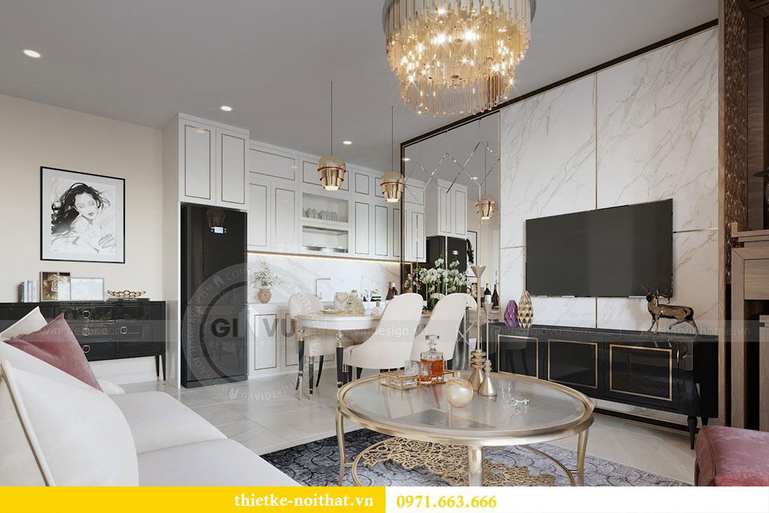 Mẫu thiết kế nội thất chung cư đẹp phong cách luxury 3