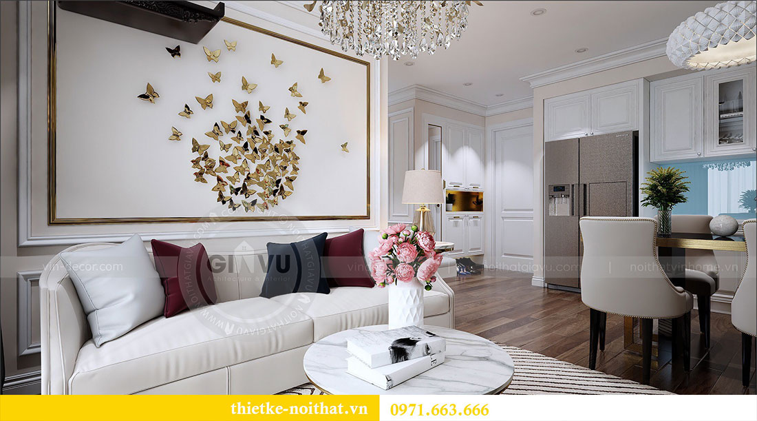 Thiết kế nội thất Vinhomes Dcapitale căn 2 phòng ngủ - chị Hiên 5