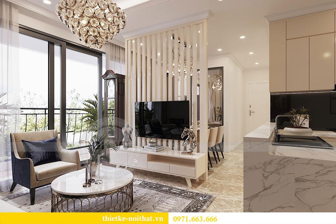 Thiết kế thi công nội thất căn 09 tòa C3 chung cư Dcapitale - chị Huế 2