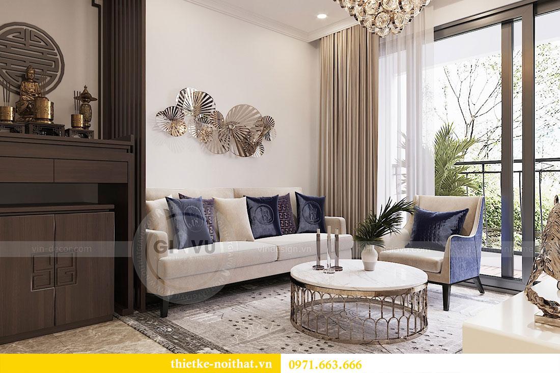 Thiết kế thi công nội thất căn 09 tòa C3 chung cư Dcapitale - chị Huế 3