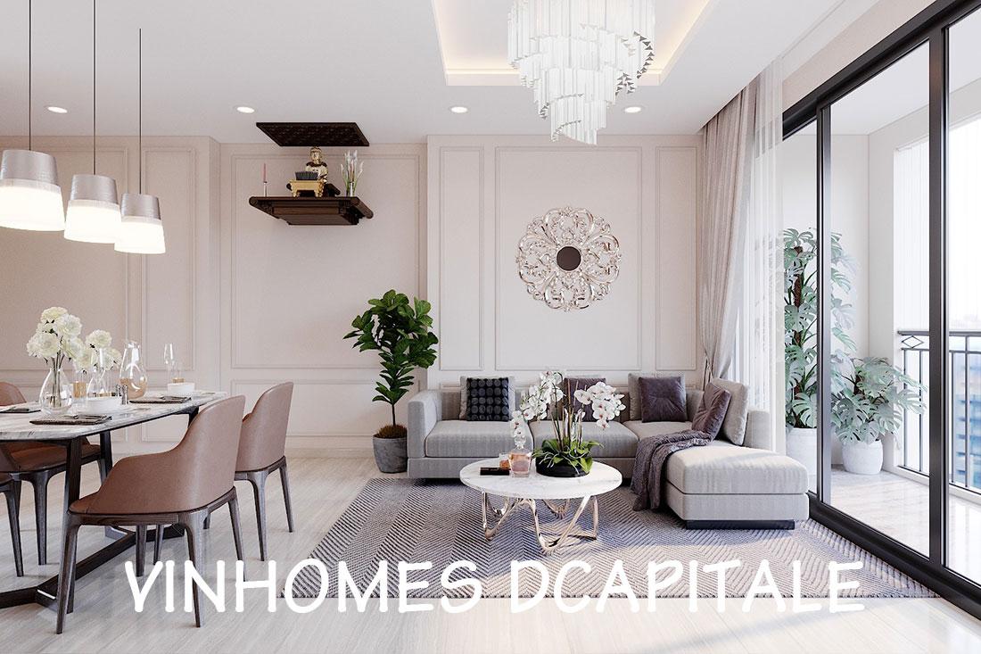 Thiết kế nội thất căn 2 phòng ngủ tại Vinhomes Dcapitale – chị Minh