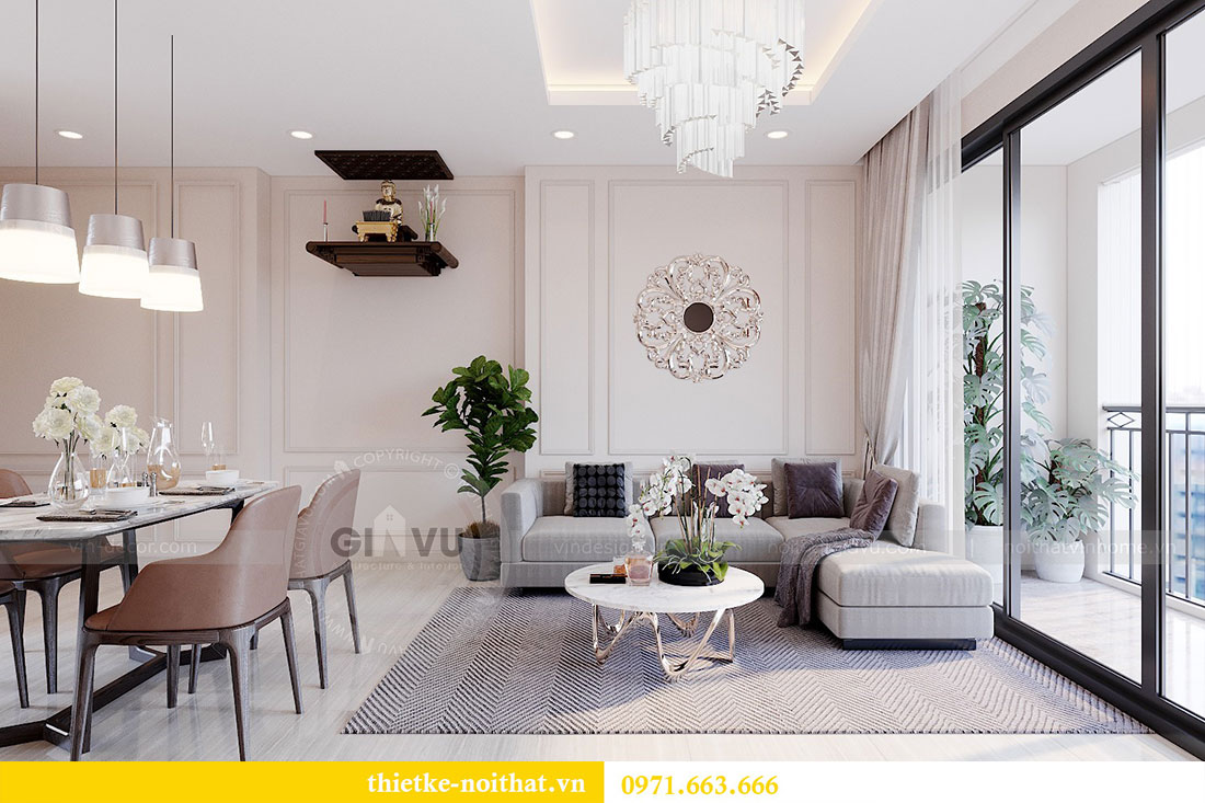 Thiết kế nội thất căn 2 phòng ngủ tại Vinhomes Dcapitale - chị Minh 3
