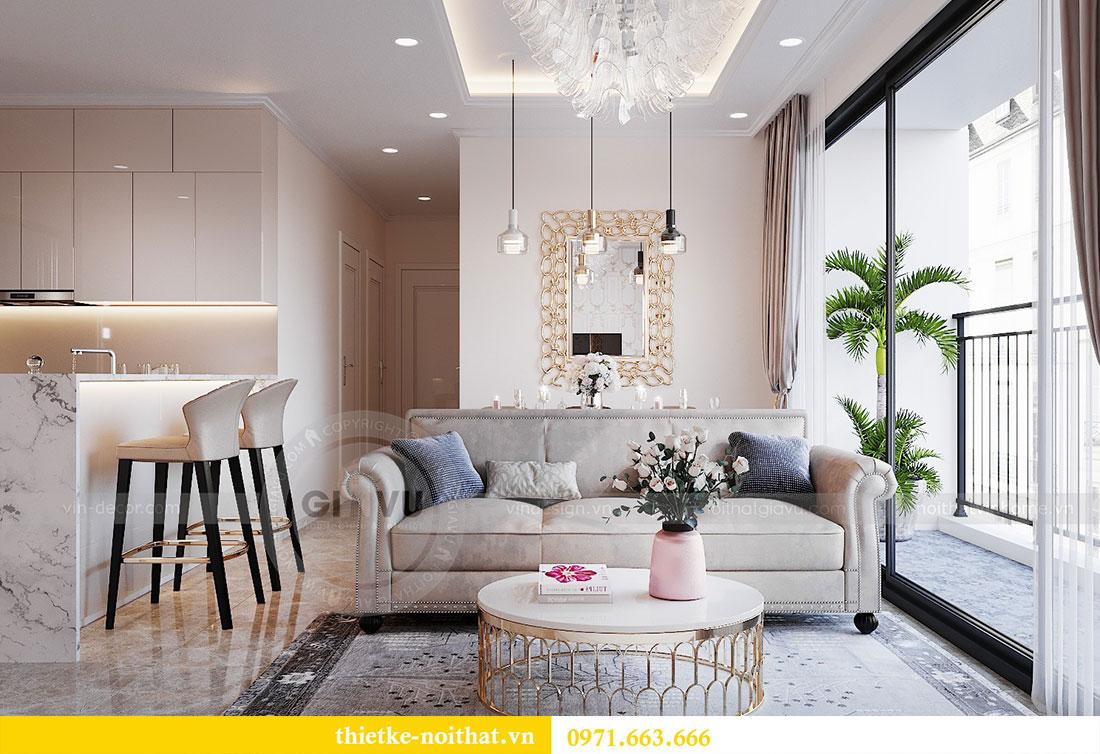 Thiết kế nội thất chung cư Dcapitale căn hộ 83m2 đẹp hiện đại 2