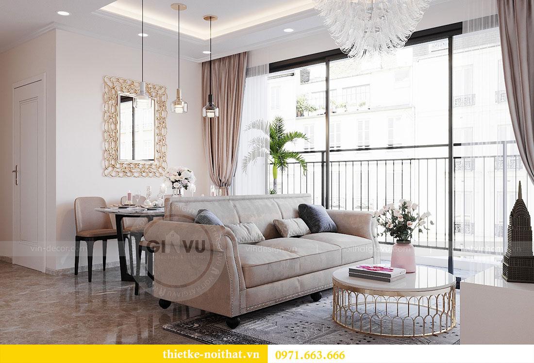 Thiết kế nội thất chung cư Dcapitale căn hộ 83m2 đẹp hiện đại 3