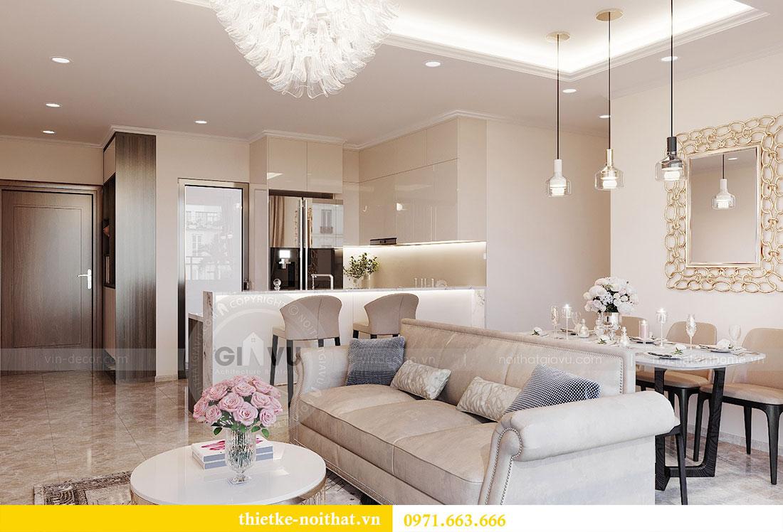 Thiết kế nội thất chung cư Dcapitale căn hộ 83m2 đẹp hiện đại 5