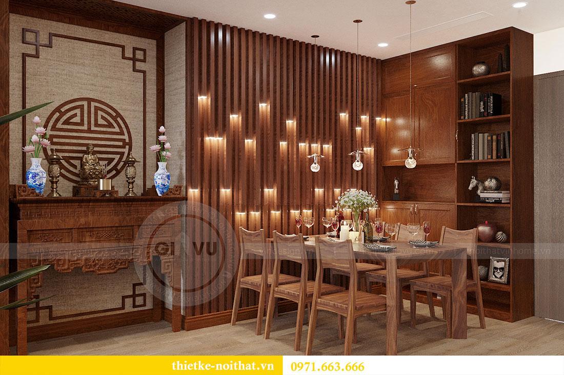 Thiết kế nội thất chung cư Metropolis căn 3 ngủ đẹp với gỗ Hương 1
