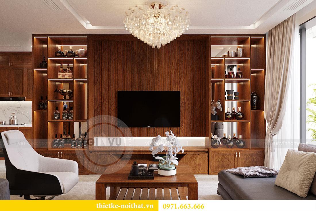 Thiết kế nội thất chung cư Metropolis căn 3 ngủ đẹp với gỗ Hương 2