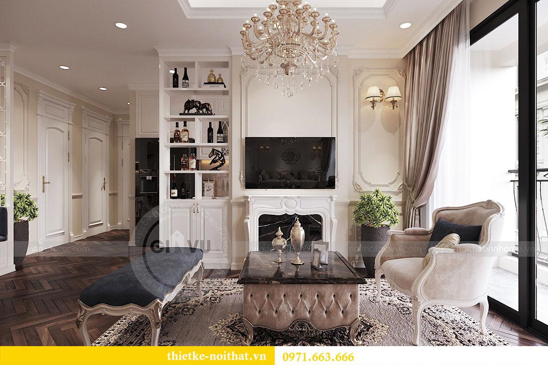 Thiết kế thi công nội thất căn hộ cao cấp Vinhomes Green Bay - chị Yến 1