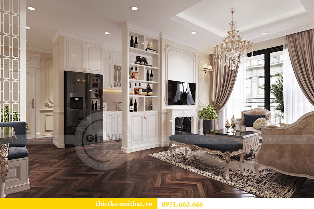 Thiết kế thi công nội thất căn hộ cao cấp Vinhomes Green Bay - chị Yến 2