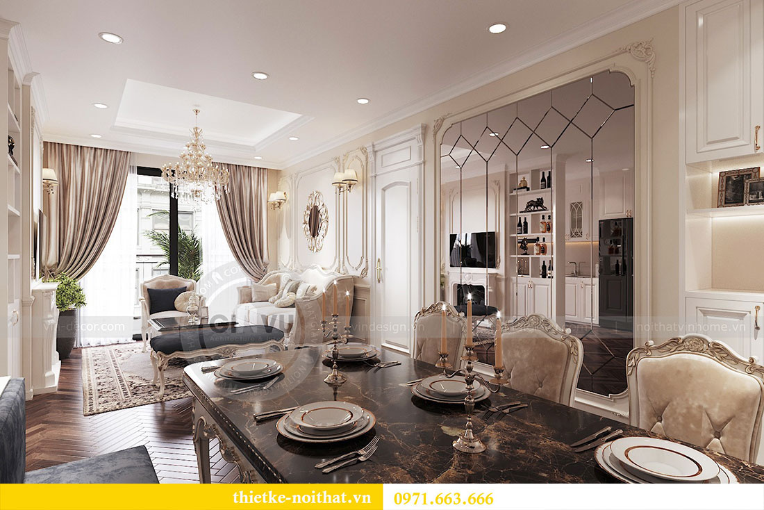 Thiết kế thi công nội thất căn hộ cao cấp Vinhomes Green Bay - chị Yến 3