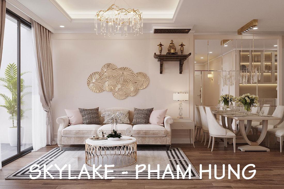 Triển khai thi công nội thất chung cư Skylake căn S10608A – chị Trang