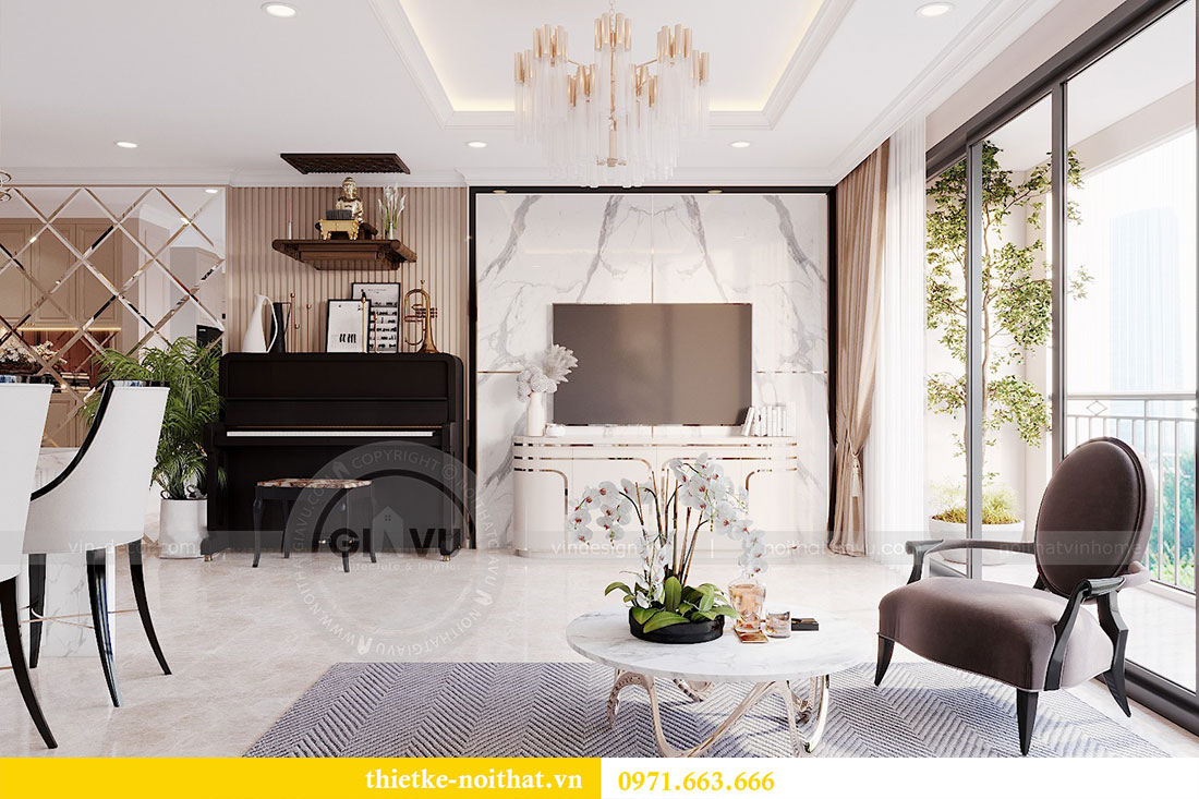 Mẫu thiết kế nội thất chung cư căn hộ 3 PN vạn người mê 5