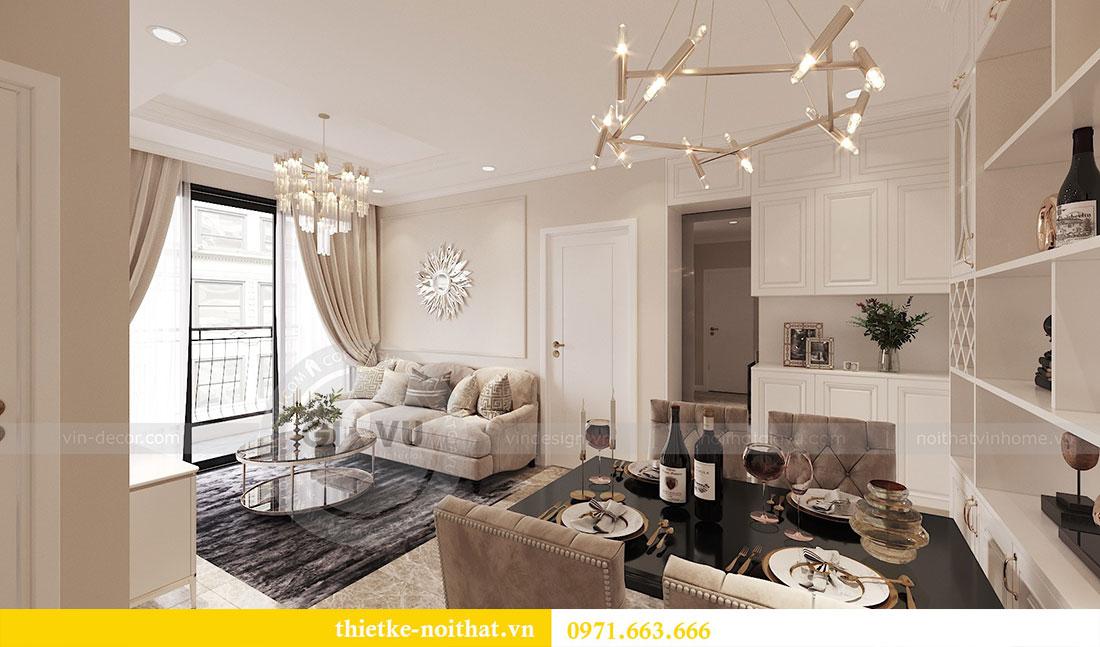 Thiết kế nội thất căn hộ 02 tòa C3 chung cư Dcapitale - chị Phương 1