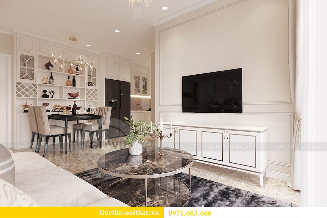 Thiết kế nội thất căn hộ 02 tòa C3 chung cư Dcapitale - chị Phương 2