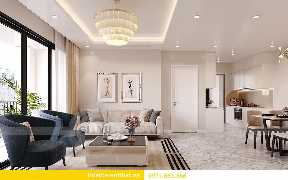 Thiết kế nội thất căn hộ 10 tòa C3 chung cư Dcapitale - anh Kiên 2
