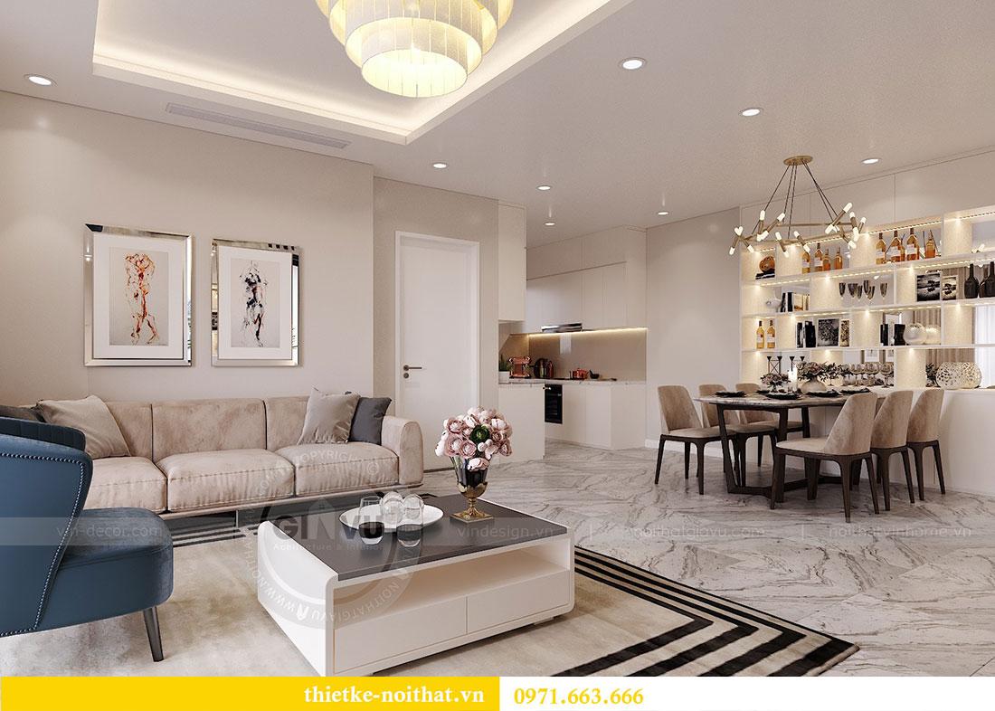Thiết kế nội thất căn hộ 10 tòa C3 chung cư Dcapitale - anh Kiên 4