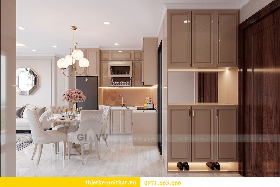 Thiết kế nội thất cao cấp Vinhomes Dcapitale tòa C6 căn 02 - chú Hải 1
