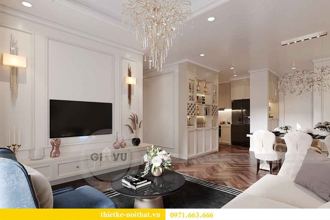 Thiết kế nội thất chung cư D capitale tòa C7 căn 12 chị Hương 4