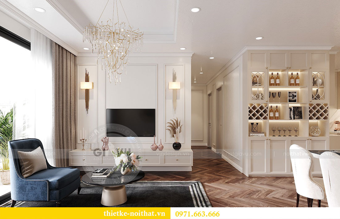 Thiết kế nội thất chung cư D capitale tòa C7 căn 12 chị Hương 6