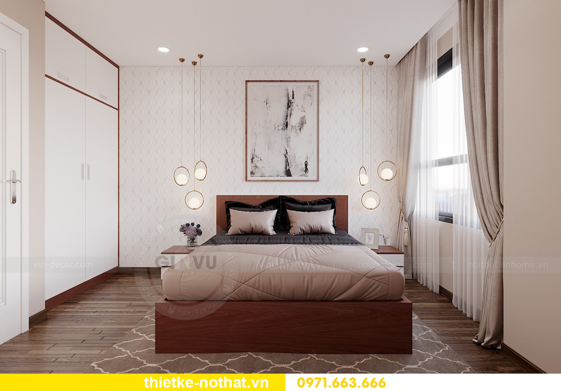thiết kế nội thất chung cư West Point 3 phòng ngủ đẹp hiện đại 09
