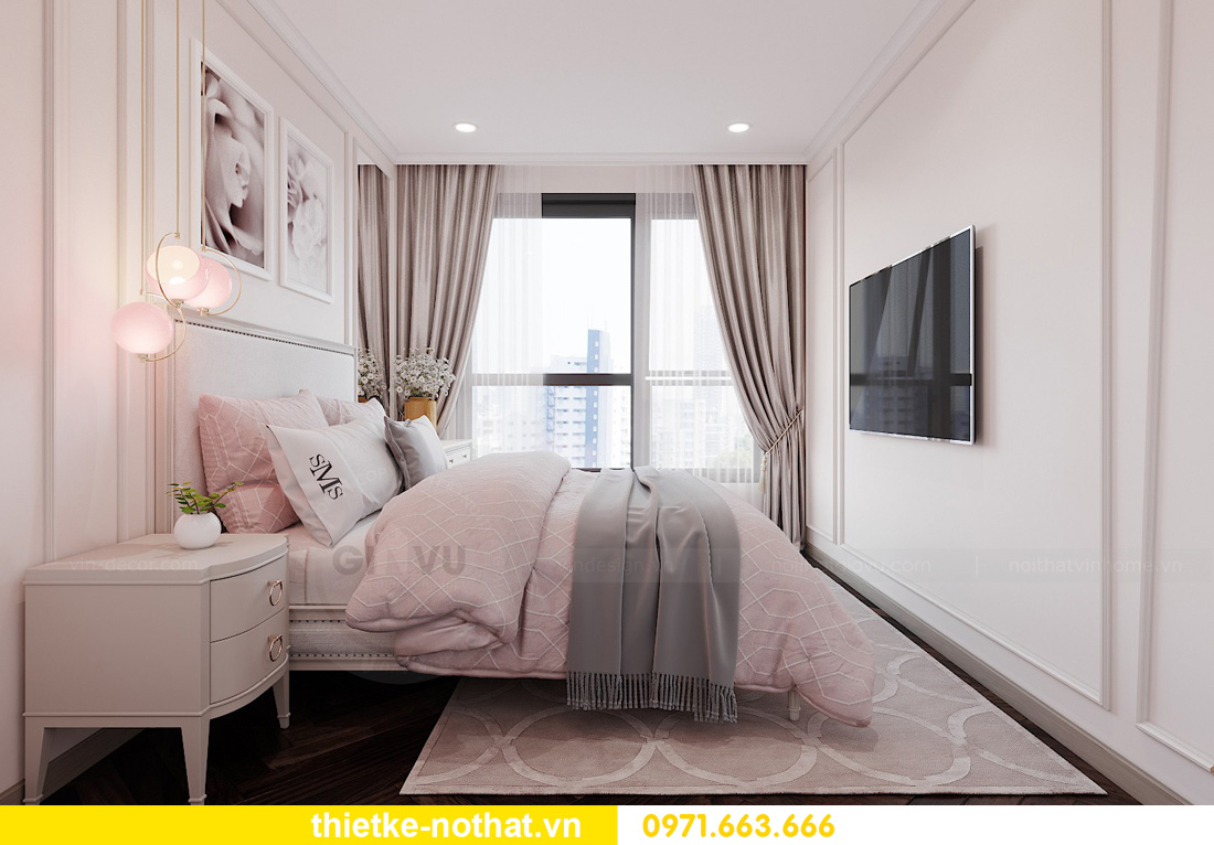 Thiết kế thi công nội thất chung cư West Point tòa W1 căn 05 11