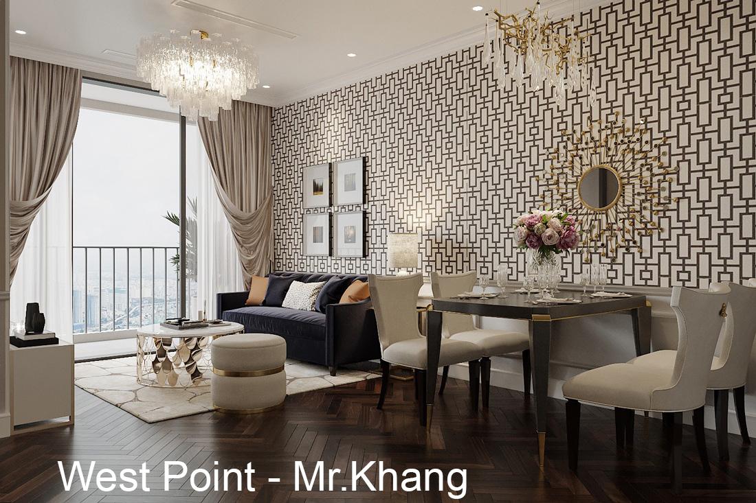 Thiết kế nội thất căn hộ chung cư West Point tòa W3 căn 12