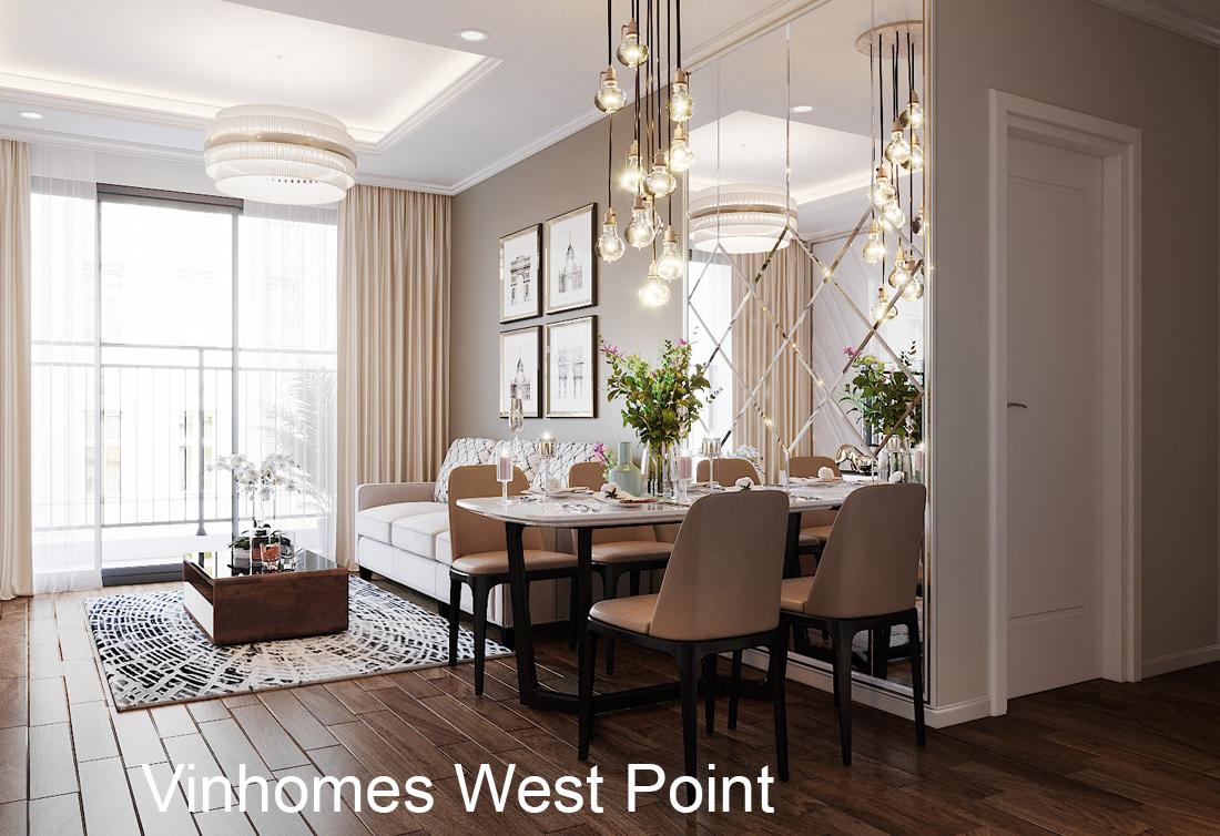 Thiết kế nội thất căn hộ Vinhomes West Point tòa W3 căn 08A
