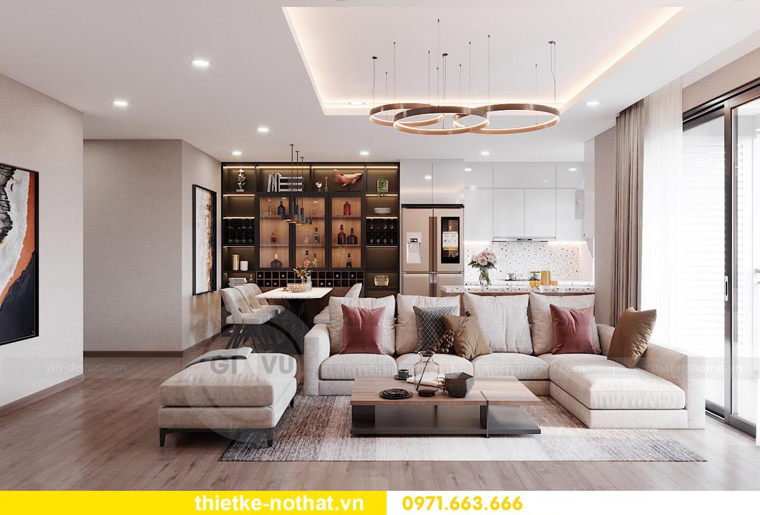 mẫu thiết kế nội thất chung cư West Point căn hộ 3 phòng ngủ 02